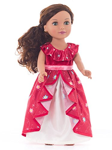 Little Adventures Matching Princess Dress Up Costume for Dolls (Multiple Princess Styles Available) (Spanish (Girls Spanish Costume)