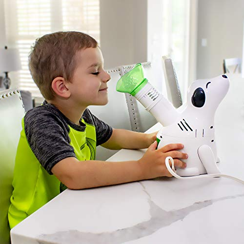 HealthSmart Humidifier and Personal Steam Inhaler for Kids Includes an Aromatherapy Tank and Facial Mask That Offers a Quick 6-9 Minute Therapy with Variable Steam Adjustment, Digger Dog