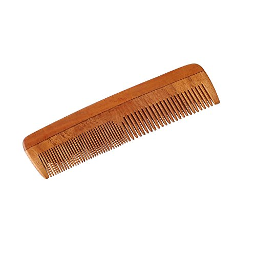 HealthAndYoga Handcrafted Neem Wood Comb - Anti Dandruff, Non-Static and Eco-friendly- Great for Scalp and Hair health -7