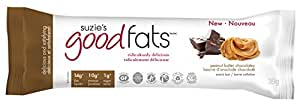 Suzie's Good Fats Bars (Keto, Healthy Fats, LCHF, Low Sugar, Gluten Free, Non GMO), 39g - box of 12 (peanut butter chocolatey)