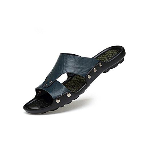 5 uomoCasual estivi Sandalo Blu e da cm Melodycp antiscivolo estive uomo Scarpe da infradito 28 Antipioggia uomo da impermeabile 24 pelle da Sandali in spiaggia XSqtU