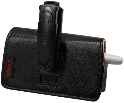Cellet Pantech PN-820, Motorola V551, and Samsung a930 Black Horizontal Noble Case