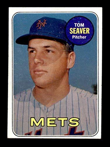 - #480 Tom Seaver HOF - 1969 Topps Baseball Cards Graded EXMT - Baseball Slabbed Autographed Vintage Cards