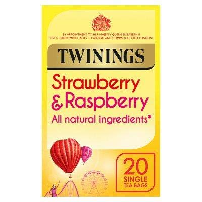 (Twinings Strawberry & Raspberry 20 Tea Bags Pack of 2)