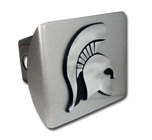 Michigan State Spartan Head Silver Hitch Cover
