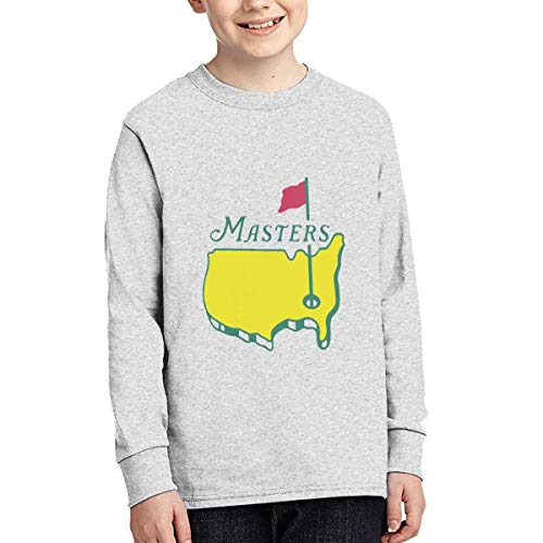 Masters Tournament Augusta National Golf Long Sleeve Teenage Tee Tops Gray
