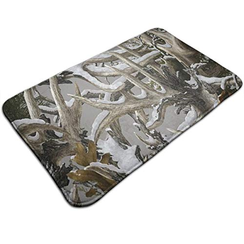 Ruwoi6 Realtree Camo Wallpapers Duty Doormat, Indoor Outdoor, Waterproof, Easy Clean, Low-Profile Mats for Entry, Garage, Patio, High Traffic ()