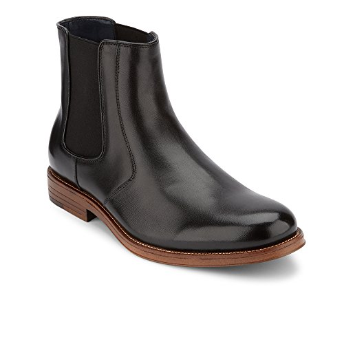 Dress Black Leather Boot (Dockers Mens Ashford Leather Dress Chelsea Boot, Black, 8.5 M)