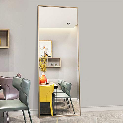 Trvone Full Length Mirror Floor Mirror, Large Rectangle Bedroom Mirror Dressing Mirror Wall-Mounted Mirror, Standing Hanging or Leaning Against Wall, 65