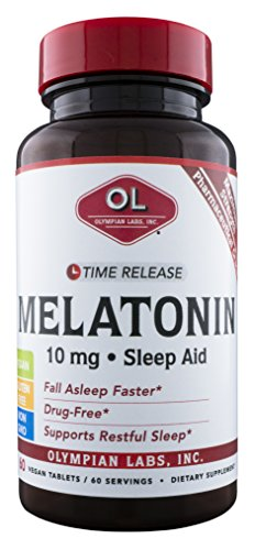- Olympian Labs Melatonin 10 mg Time Release, 60 Count
