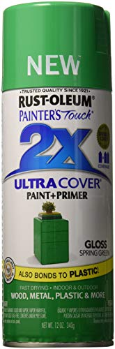 Lime Green Spray Paint - Rust-Oleum 314751 Painter's Touch 2X Ultra Cover, 12 oz, Spring Green