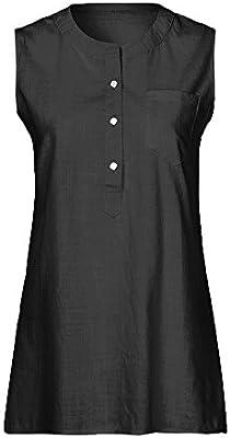 New Ladies Floral Print Round Neck Cotton Summer Vest Blouse Top Size 8-18
