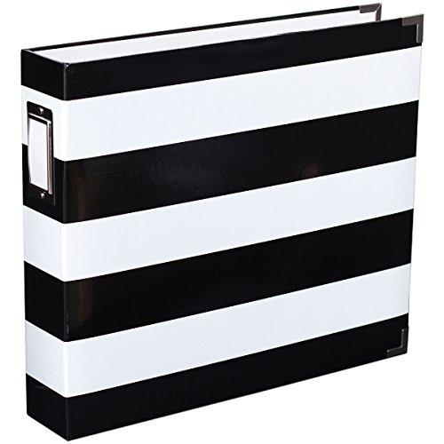 American Crafts Black & White Stripe 12x12 Designer Album ()