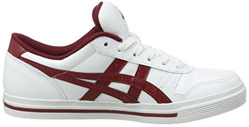 Asics Unisex-Erwachsene Aaron Sneaker Weiß (WHITE/BURGUNDY)