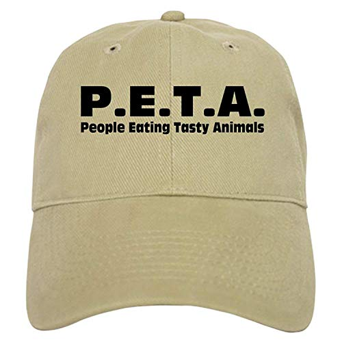 (P.E.T.A.- People Eating Tasty Animals. Cap - Baseball Cap Adjustable Closure, Unique Printed Baseball Hat)