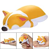 Jumbo Squishies Pack, Yellow Puppy Kawaii Cream Scented Squishies Slow Rising Kids Toys Doll Gift Fun Collection Stress Relief Toy Hop Props Decorative Props Large Soft Squishy Toys