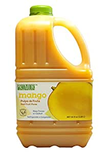 Primor Mango Puree | 64 Fl Oz | Create All-Natural Juices, Smoothies, Cocktails, Desserts, Dressings, And So Much More | Natural, Vegan, Non-GMO, Gluten-Free, Kosher