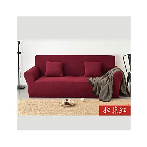 ACOMY Sofa Covers for Living Room Thick Plaid Sofa Cover All Inclusive Solid Color Combination Sofa Towel Couch Cover Funda para Sofa,11,M 145-185CM