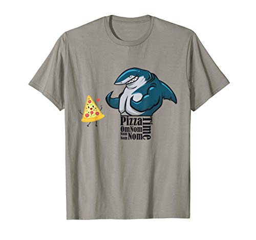 Fitness Shark Loves Pizza Om Nom Nom Jawsome T-Shirt -