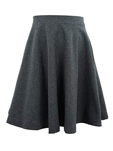 Skirt Circle Cotton (Vivian's Fashions Skirts - Girls, Cotton, Long, Circle (Charcoal, X-Large))