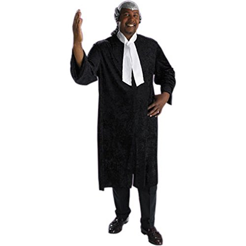 Adult Men's Plus Size Barrister Judge Costume (Size: XX-Large: 48-25) (Judge Robes Costume)