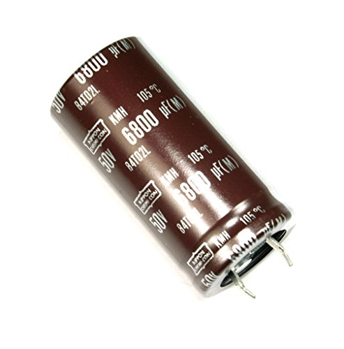 2pcs Nippon Chemi-Con KMH 6800uF 50v Radial Electrolytic Capacitor NCC