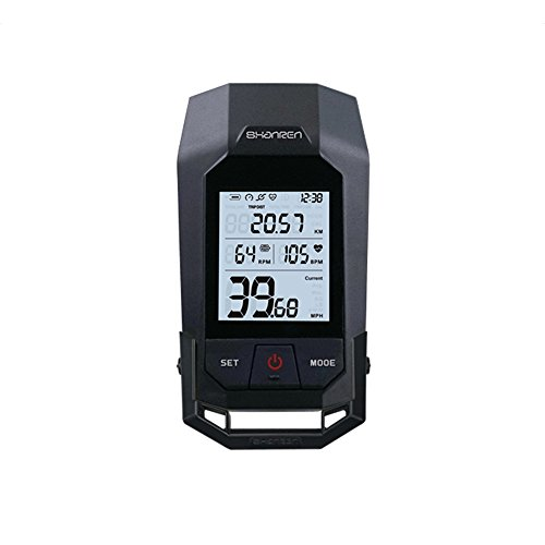 Raptor II Pro Bluetooth Cycling Computer Wireless Bike,18 Functions Backlight LCD Display with Cadence Sensor Speedometer Odometer Calorie Heart Rate Counter WaterProof and 3 Function Bicycle ()