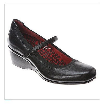 Aetrex Women's Gloria Mary Jane Diabetic Shoes,Chestnut Leather,6.5 W US