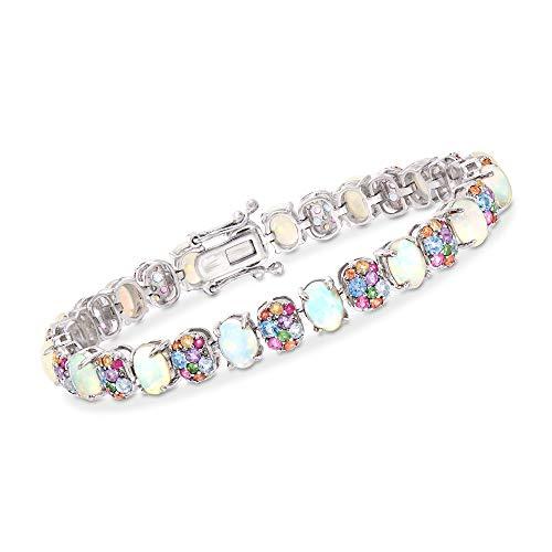 (Ross-Simons Opal and 5.80 ct. t.w. Multi-Gemstone Bracelet in Sterling Silver)