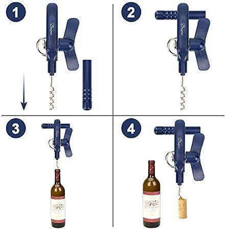 Abrelatas Manual,abridor de Botellas de Vino,abridor de Botellas,abridor de Botellas&Abrelatas profesional4 en1Bangrui, Mantiene el Borde de la Lata Liso.¡Mejor opción para Cocina! (Azul)