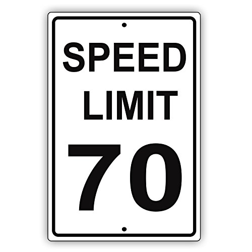 iles Per Hour Black Letters Zone Slow Down Speeding Restriction Alert Attention Caution Warning Notice Aluminum Metal Tin 12