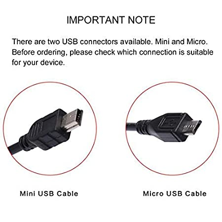 Suitable for Dash Cameras Long Cable 3.5 Metre with Straight Female Mini USB Connector Amacam Car Charger Mini USB Cable CC3 Sat Navs Tom Tom and Other Android Devices Premium Power Supply Lead