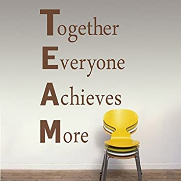 MairGwall Team Building Wall Decal Inspirational Wall Quote Vinyl - Wall decals inspirational