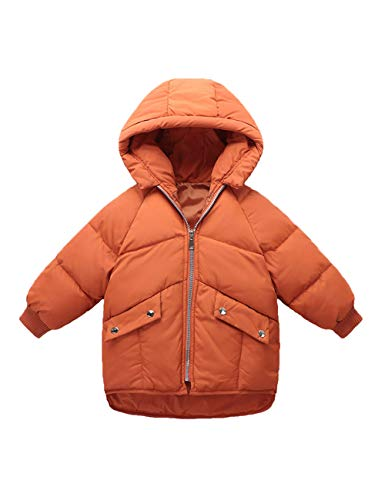 Zipper Outdoor Brown Children Unisex Coat Jacket Fashion BESBOMIG Light Cotton Hooded Clothes Children Winter Outerwear 6t8qwUg