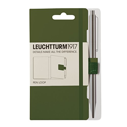 (LEUCHTTURM1917 348093 Pen Loop (Pencil Holder), self-Adhesive, Army )