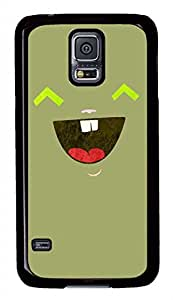 Smiling Face PC Black Hard Case Cover Skin For Samsung Galaxy S5 I9600