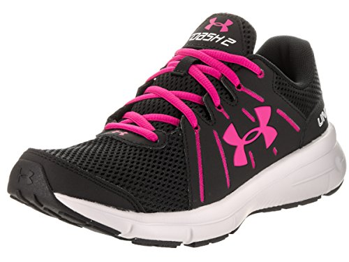 Under Armour UA W Dash RN 2, Zapatillas de Entrenamiento Para Mujer Black/Glacier Gray/Tropic Pink