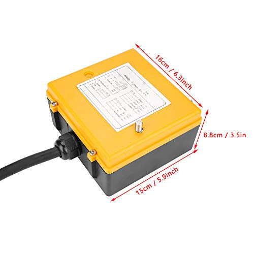 Crane Chain Hoist Push Button Switch 1 Transmitters + 1 Receiver Hoist Crane Wireless Remote Controller 12 Buttons by Wal front (Image #3)