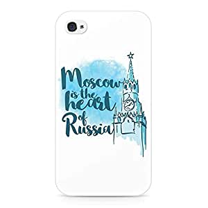Loud Universe Apple iPhone 4/4s 3D Wrap Around Moscow Print Cover - White/Blue