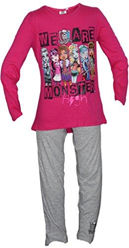 Monster High Girls Pajama Set (8 Years, Fuchsia)