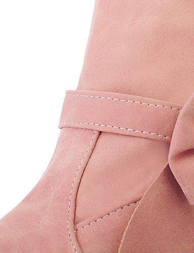 Eu43 Talon Cn44 Xzz Chaussures Stiletto Uk9 automne us11 hiver Printemps rose Bowknotblue Bottes femme Mode décontracté Pink Extérieure qHqwx1SZ