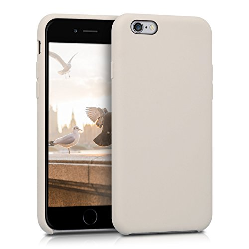 kwmobile TPU Silicone Case for Apple iPhone 6 / 6S - Soft Flexible Rubber Protective Cover - Beige Matte