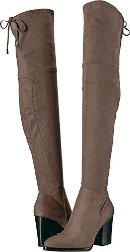 Adora Warm Toe Boots Marc Fisher Taupe Over Pointed Warm Fashion Knee Womens Fabric Taupe wCng7Eq