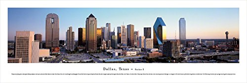 Horizontal Picture Frame Nhl (Dallas, Texas at Dusk - Blakeway Panoramas Unframed Skyline Posters)