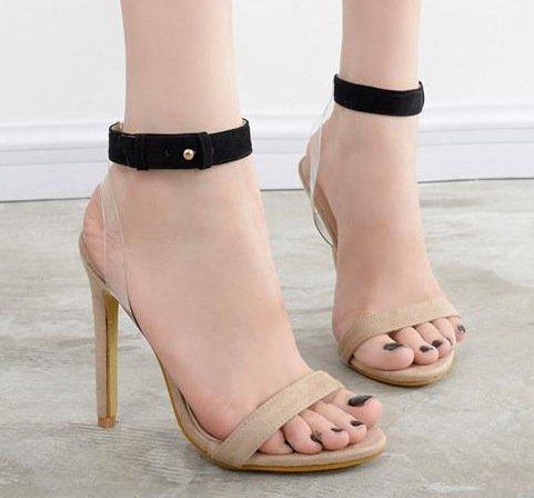ZHUDJ Stilettos_Peep Toe Pumps Sandalen, Schuhe Thirty-six