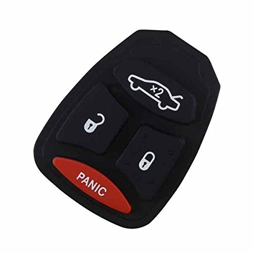 KeylessOption Replacement Keyless Entry Remote Ignition Key Rubber Button Pad Repair Fix
