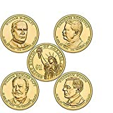 2013 Presidential Dollar 8-Coin Uncirculated Set P and D Singles (2x2)