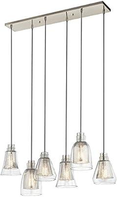 Kichler 43628NI Six Light Linear Chandelier