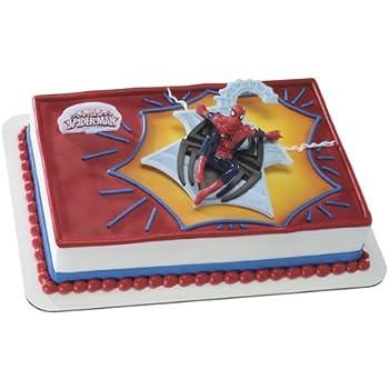 Amazon Com Decopac Spiderman Light Up Eyes Decoset Cake