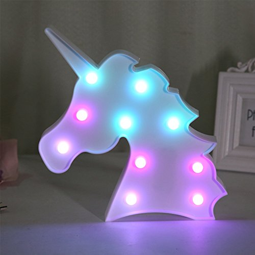 Life Led Lamps - QC Life Colorful Unicorn LED Light Night Lights Lamp Wall Decoration Decorative Sign for Party/Wedding/Kid Birthday Party/Holiday Celebrations